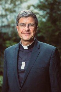 12 juillet 2019 : Portrait de Mgr Eric de MOULINS-BEAUFORT, archevêque de Reims, président du Conseil permanent de la Conférence des Evêques de France (CEF). Paris (75), France.