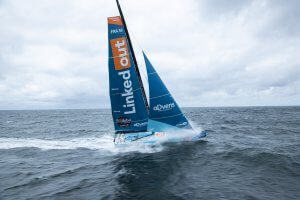 OFF Groix - June 5: French skippers Thomas Ruyant, sailing on the Imoca LinkedOut, training prior to the vendee globe, on June 05, 2020, off Groix, South Brittany, France - Photo Pierre Bouras / TR Racing