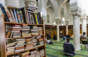 15 mai 2018 : Grande mosquée de Paris vue de l'intérieur, lors de la Nuit du doute à la grande mosquée de Paris (75), France.