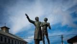7 juillet 2013 : Statue de Victor Sch½lcher (qui fit passer une proposition de loi en 1877 interdisant la bastonnade dans les bagnes, notamment celui de Guyane), place Victor-Sch½lcher à Cayenne. Guyane (973), France.